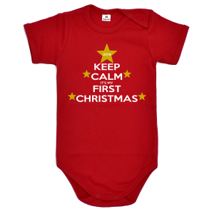 Body dziecięce KEEP CALM IT'S MY FIRST CHRISTMAS