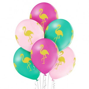 Balony FLAMINGO z FLAMINGIEM 6szt BELBAL